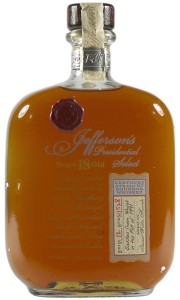 Jefferson's 1991 18 Year Old, Presidential Select Bourbon Whiskey